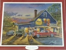 """Dave Barnhouse Taking The Back Roads Framed Limited Edition Signed Print 30""""x25"""""""