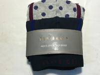 New TED BAKER LONDON Men's 2-Pack Boxer Briefs Solid Blue Dots XL Size 5