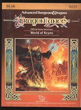World Of Krynn Dragonlance AD&D Dungeons & Dragons TSR 9237 Complete