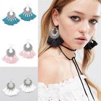 New Fashion Jewelry Women's Bohemian Long Tassel Fringe Boho Dangle Earrings