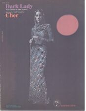"CHER ""DARK LADY"" SHEET MUSIC-PIANO/VOCAL/GUITAR/CHORDS-1973-EXTREMELY RARE-NEW!!"