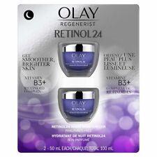 Olay Regenerist Retinol 24 Night Facial Moisturizer, 2 x 50 mL