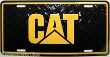 CAT Caterpillar License Plate peterbilt kw Tag truck tractor logo emblem yellow