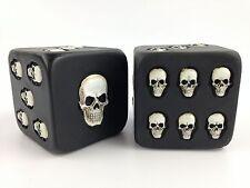 "2 Oversize XL Novelty Skull Dice 3"" Collectible Decoration Skeleton Die"
