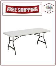 Lifetime 6' Commercial Grade Stacking Folding Table, White Granite Color