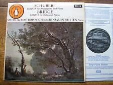 SXL 6426 Schubert: Arpeggione Sonata ROSTROPOVICH/BRITTEN NB Presque comme neuf