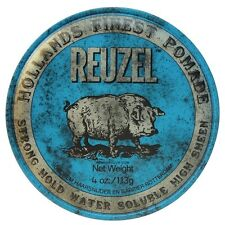 Reuzel Blue Strong Hold High Sheen Pomade * Brand New * Fast Delivery
