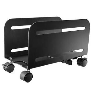 Allcam CPU Holder Mobile PC Computer Floor Stand Trolley or Underdesk Mount