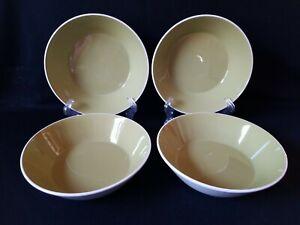 """(4) Mikasa Duplex Dahlia Ben Seibel 2511 Coupe Cereal Green Bowls RARE! 6 3/4"""""""