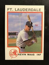 KEVIN MAAS 1987 PROCARDS FT. LAUDERDALE YANKEES MINOR LEAGUE ROOKIE RC MINT