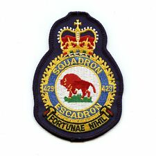 RCAF CAF Canadian 429 Squadron Heraldic Colour Crest Patch