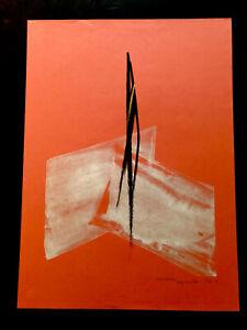 TOKO SHINODA Japanese Lithographic Print ASPIRATION - BLACK /GOLD Brush Strokes