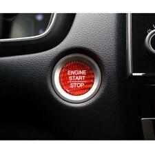 Red Carbon Fiber Interior Engine Start Button Cover Trim For Honda Accord CRV