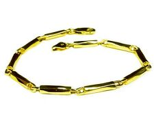 "18k Solid Yellow Gold Men's Fashion Link chain/Bracelet 9.5"" 3.5 mm 27 grams"