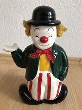 Spardose bunter Clown aus Porzellan - Sparschwein, Sparbüchse