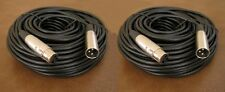2 x 50FT XLR 3Pin Male Female Mic Microphone Audio Shielded Balanced Cable Cord