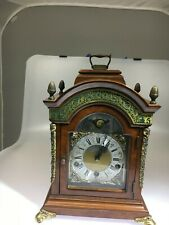 Warmink Walnut Westminster Table Clock with rare green banded striking