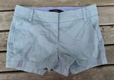 J Crew Chino Shorts Women's Size 00 Solid Blue Preppy Casual