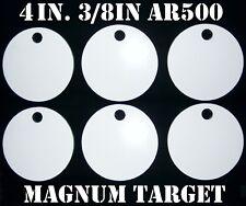 4in. AR500 Shooting Targets - 3/8in. Thk. Rifle Targets - 6pc. Steel Target Set