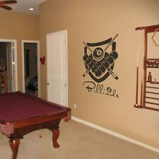 Billiard Wall Decal Inspiration Snooker Sports Living Room Vinyl Removable Decor