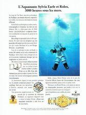 Publicité Advertising  0817  1993  montre Rolex Oyster Datejust chrono S. Earle