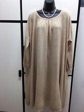 Journal Standard Luxe OS Alpaca Linen Camel Oversized Smock Sweater Dress