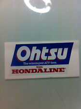 "Ohtsu Team Honda Hondaline ATC Reproduction Decal 5"" 250R 350X 70 200X"