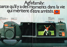 PUBLICITE ADVERTISING 044   1981   AGFA FAMILY   caméra  ( 2 pages)