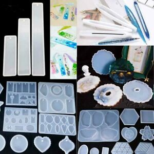 DIY Jewellery Silicone Mould Crystal Pendant Earrings Resin Mold Craft Making 3D