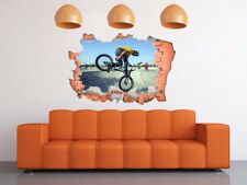 FULL COLOUR BMX Smashed wall Wall Art, Broken Wall,Transfer, Decal, 3D, Sticker