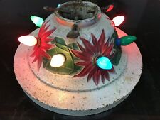 Antique 1920s Cast Iron Lighted Christmas Tree Stand With Outlets ~Working~