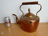 Antique copper kettle with dovetail seem