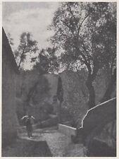 D3647 France - Saorgio - La Strada del Convento - Stampa - 1940 vintage print