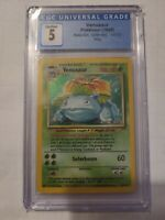 CGC 5 EX Venusaur 15/102 Base Set Unlimited Holo Rare 1999 Pokemon  BGS PSA