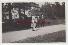 (F6218) Orig. Foto Finsterbergen, Spießberg, Personen spazieren 1929