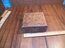 Vintage Pyrography Wooden Dresser / Jewelry Box