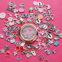50pcs/Lot floating charms locket glass For living memory Random Wholesale Hot