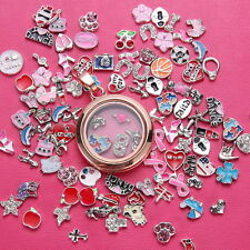 50pcs/Lot floating charms locket glass For living memory Random Wholesale Hot