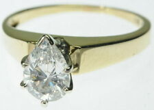 Ladies 14K Yellow Gold Diamond Solitaire Engagement Estate Ring J232070