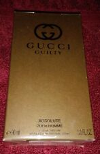 GUCCI GUILTY ABSOLUTE POUR HOMME EAU DE PARFUM FOR MEN 3.0 OZ. 90 ML.SEALED