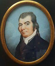(B075) Miniatur Portrait eines vornehmen Herren, Gouache, um 1800