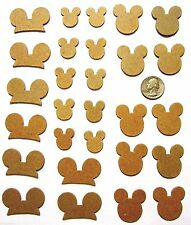 28 Chipboard Disney Mickey Mouse Hat Shapes Handmade Diecut Embellishments