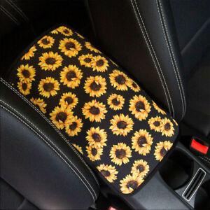Universal Sunflower Auto Armrest Pad Trim Cover Center Console Box Accessories