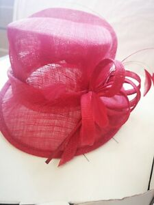 Wedding/Special Occasion Hat by Bhs, Red colour