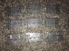 LEGO x 9 Flexible Train Tracks / Segments - Dark Bluish Gray - NEW RC Trains