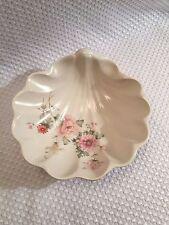 Grayshott Pottery England Stoneware Floral Shell Dish Beautiful Flowers RARE