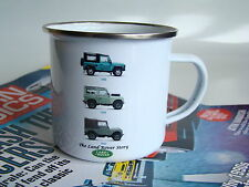 Land Rover Retro Enamel Mug, Christmas Gift, Classic Car Cup, Land Rover Gift