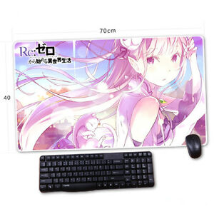 Re:Zero kara Hajimeru Isekai Seikatsu Emilia Mouse Mat big Pad Mousepad MH