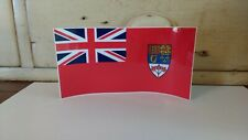 """Canadian Red Ensign 1957 - 1965 Top Quality Flag Decal, Made in Canada 3"""" x 6"""""""