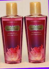 2 Bottles Victoria's Secret PURE SEDUCTION Body Wash - TRAVEL SIZE - Mini